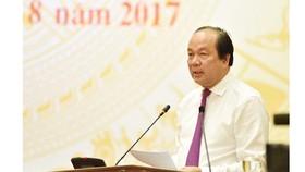 Bộ trưởng, Chủ nhiệm VPCP Mai Tiến Dũng tại buổi họp báo. Ảnh: VGP/Nhật Bắc