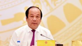 Bộ trưởng - Chủ nhiệm Văn phòng Chính phủ Mai Tiến Dũng chủ trì họp báo