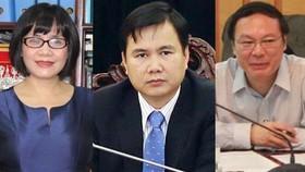 Từ trái qua: Thứ trưởng Bộ Tư pháp Đặng Hoàng Oanh, Thứ trưởng Bộ Khoa học và Công nghệ Bùi Thế Duy, Thứ trưởng Bộ Tài nguyên và Môi trường Lê Công Thành. Ảnh: VPG News