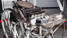 The old printer given by Viet lap Company in Cao Bang Province (Photo: SGGP)