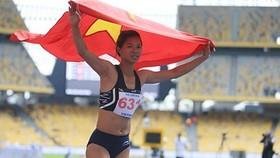 Runner Tran Thi Yen Hoa at Sea Games 29 (Photo: VNA)