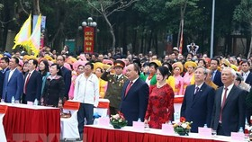 Participants at the ceremony marking the 229th anniversary of Ngoc Hoi–Dong Da victory (Photo: VNA)