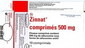 Drug administration warns of fake Zinnat drug