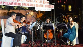 Japan philharmonic orchestra quartet performs in Hoi An City