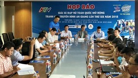 At the press conference on the 19th edition of the National Women's Cycling Open for the An Giang Television Cup (Photo: VNA)