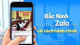Zalo used to deliver e-administrative services in Bac Ninh Province