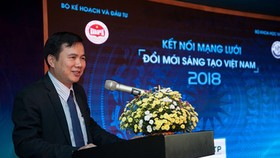 Deputy Minister of Science and Technology Bui The Duy delivered his speech in the event. Photo by Tran Binh.