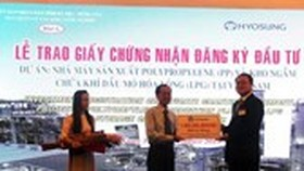 Hyosung Group granted investment certificate for $1.2 billion complex in Vietnam