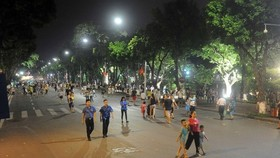 The pedestrian zone around Hoan Kiem Lake in downtown Hanoi (Photo: VNA)