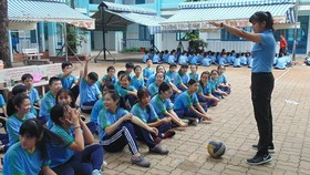 A sport class in Binh Tay Junior High School in District 6 (photo: SGGP)