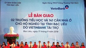 Bac Lieu authority, banks build schools, charity houses for poor people