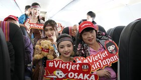 Japan's Kansai Airport welcomes first direct flight from Vietnam