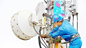 VinaPhone is one of the cellular network providers that offer 4G to customers. Photo by Tan Ba