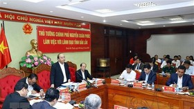 Prime Minister Nguyen Xuan Phuc holds working session with Dak Lak leaders (Source: VNA)