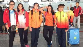 The Vietnamese female wrestling team at the championship (Photo: hanoimoi.com.vn)