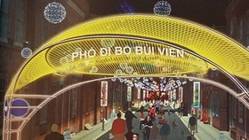 3D design of Bui Vien Walking Street (Source: VNA)