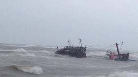 Bad weather covers East Sea