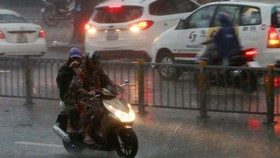 Tropical low depression causes medium- heavy rain and thunderstorm on the large scale