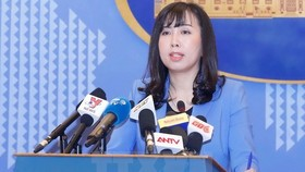 The Foreign Ministry's Spokesperson Le Thi Thu Hang. (Photo: VNA)