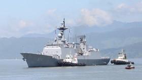RoK's naval ships arrive in Da Nang city