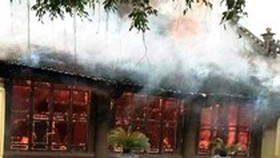 Fire burnt down 300 year-old communal house in Thai Binh
