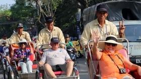 Foreign visitors in central Da Nang city (Source: VNA)