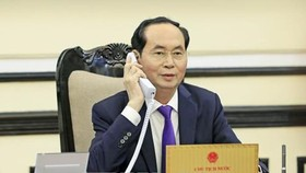 President Tran Dai Quang calls with Russian President