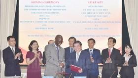 MoU on comprehensive partnership between Ho Chi Minh City and World Bank