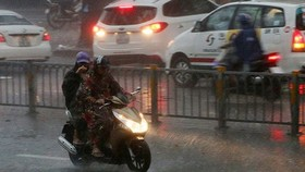 Usagi triggers downpour in Ho Chi Minh City on the large scale