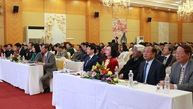 Delegates attend in celebration of the Hanoi Journalists' Association (Photo:kinhtedothi)