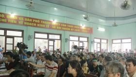 Buổi đối thoại giữa người dân xã Phổ Thạnh và chính quyền tỉnh Quảng Ngãi