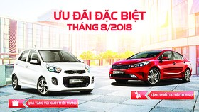 Tháng 8-2018, cơ hội mua xe Kia với hàng loạt ưu đãi hấp dẫn