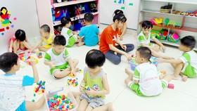 Lớp giữ trẻ 5 tuổi tại Nhóm mẫu giáo Thành Nhân