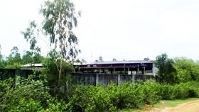Nhiều nhà xưởng tại CCN Tân Đức bị bỏ hoang   Ảnh: NGỌC OAI