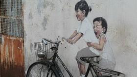 街頭隨處可見的壁畫。