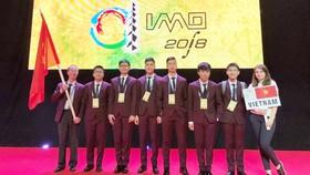 圖為越南國家奧林匹克數學隊。(圖源:越通社)