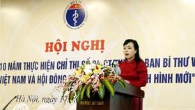 衛生部長阮氏金進在會議上發表講話。(圖源:太平)