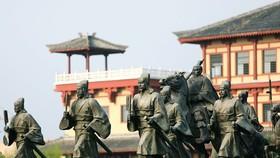 中國漢城栩栩如生的雕塑。