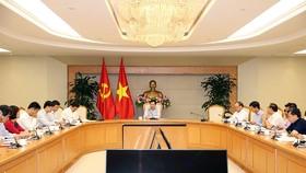 政府副總理、外交部長范平主持會議。(圖源:海明)