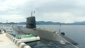 日本1號訓練潛艇訪問金蘭灣。(圖源:凱安)