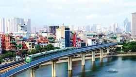 河內都市鐵路項目中的吉靈-河東線路將從本月20日投入試驗性運行。(圖源:交通報)