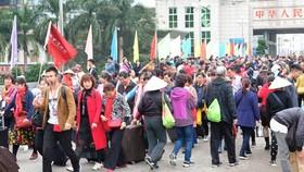 """""""黃金週""""內廣寧省接待逾3萬中國遊客。(圖源:黃明)"""