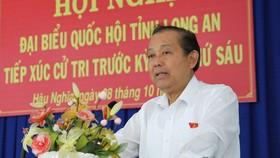 政府常務副總理張和平在選民接觸會上發表講話。(圖源:VGP)