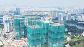 興建中的公寓。