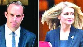 """英""""脫歐""""事務大臣(左)和就業與養老金大臣同日辭職。(圖源:互聯網)"""