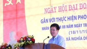 中央宣教部長武文賞出席廣義省全民族大團結盛會並發表講話。(圖源:青松)