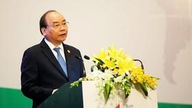 Thủ tướng Nguyễn Xuân Phúc đến dự và phát biểu tại phiên khai mạc Kỳ họp GEF 6