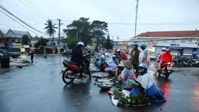 Chợ mọc giữa đường phố
