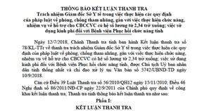 Nhiều sai phạm tại Sở Y tế Lâm Đồng