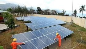 A solar power plant in Con Dao Island in Ba Ria-Vung Tau Province. (Photo: VNA/VNS)